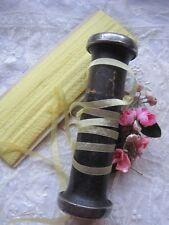 Vintage French Silk Yellow Ribbon Trim 3 Yards
