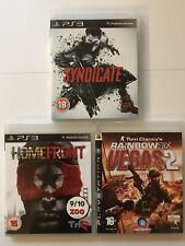 Rainbow Six Vegas 2+Syndicate+Homefront-PS3 Game Bundle (500) -