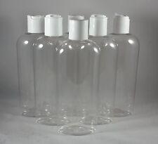 Lot 6 Clear PET 8 oz Plastic Dispensing Bottle Shampoo Lotion dispenser travel