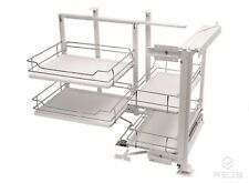 Pull-out Magic Corner Base Kitchen Storage 900mm Right/Left with plastic bottom