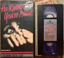 """""""He Knows You're Alone"""" VHS Horror Thriller Suspense Slasher Cult"""