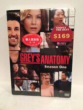 NEW SEALED Grey's Anatomy Season One DVD Set 8 Morning Language Subtitles RARE