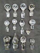 lot / collection d anciens Bouchons de carafe verre cristal baccarat St louis ..