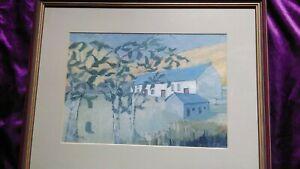 Myfanwy Evans Acrylic  Painting SOAR Y MYNYDD 50x39cm Framed SIGNED