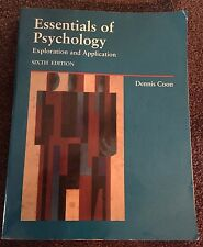Essentials of Psychology : Exploration and Application by Dennis Coon (1993, ...