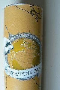 Carte du Monde à Gratter 82 x 59 cm - Scratch Map  Voyage Poster Mural