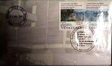 Venezuela: Set of 3 FDC SDP 70 Years of Banco Central de Venezuela (BCV) (2010)