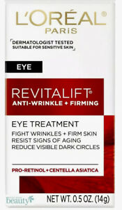New In Box L'Oreal Revitalift Anti-Wrinkle and Firming Eye Cream Treatment-.5 oz