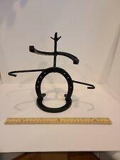 Cowboy Horseshoe Art Jewelry/ Trinket Stand Holder