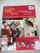 FAST FUN & EASY CHRISTMAS STOCKINGS PAPERBACK BOOK BY SUSAN S. TERRY
