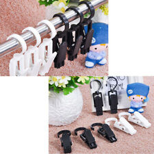 10x Drying Clips Laundry Hooks Portable Clothes Pins Hanging Clip Hanger Plastic