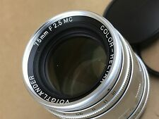 Voigtlander 75mm F/2.5 MC Color-Heliar Silver Lens for Leica M39 Screw Mount