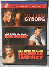 Van Damme Triple Play (DVD 3 Disc 2012 WS) Cyborg, Death Warrant, Double Impact