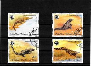 Briefmarken -Congo -Tiere -Satz