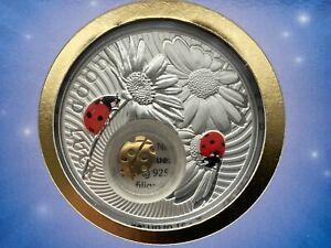 Niue Island 2 Dollar Ladybird series Lucky Coins , silver coin , 2012 year