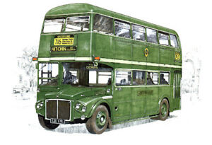 LONDON COUNTRY BUSES - Post-war Green Line Postcard Set - RT RF RMC Type images