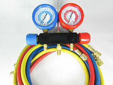 "MANIFOLD WITH 60"" SET OF HOSES CELSIUS SCALE FOR R134A-R22-R404A-R410A"