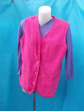 BOUQUET KNITWEAR PINK 100% WORSTED WOOL VEST-SZ 14