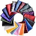 Wedding Set Mens Handkerchief Lot 20-Pcs Assorted Silk Pocket Square Party NEW