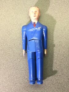 Vintage Renwal Doll Father Dad Blue Suit Jointed