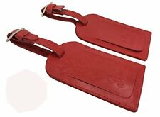 AVIMA Travel Leather Luggage Bag Tag Suitcase Baggage Office Address ID - Red