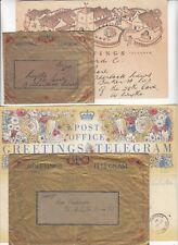 1941/42 2x TELEGRAMS with COLINTON EDINBURGH & WESTERN DISTRICT OFFICE W.1 cd