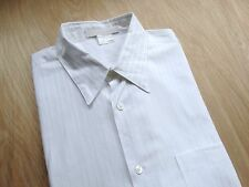 BRIONI SPORT MENS SOLID WHITE STRIPE CLASSIC DRESS SHIRT SIZE: LARGE