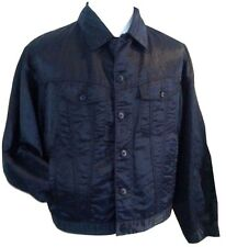 VERSACE CLASSIC BLACK MENS BOMBER STYLE JACKET LIGHT WEIGHT SIZE M