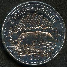 1980 Canada Silver Dollar Arctic Territories Centennial ( 23.3 Grams .500 )