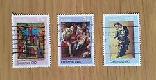 Complete Australia used stamp set: 1980 Christmas series