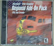Video Game PC Microsoft Train Simulator Regional Add On Pack US & Canada NEW