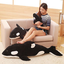 one piece huge plush simulation black killer whale pillow toy gift about 120cm