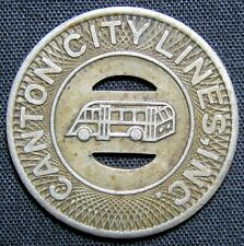 Canton City Lines, Inc. Good for One Fare Transit Token