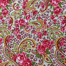 Mia Mia Paisley Pink Cotton Quilting Patchwork Material Fabric half 1/2 Yard