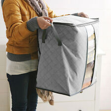 Bamboo Charcoal Storage Box Folding Clothes Blanket Closet Organizer Bag SF HOME