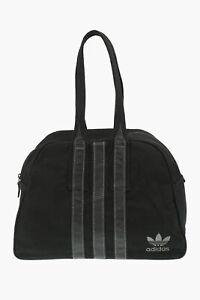 ADIDAS men women Borse Black Canvas Duffle Bowler bag Handbag Black