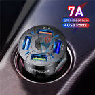 7A 4 USB Port Fast QC 3.0 Car Charger for iPhone Samsung Android Cell Phone