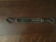"""10"""" X 1/4"""" Galvanized Turnbuckle With Double Hooks"""