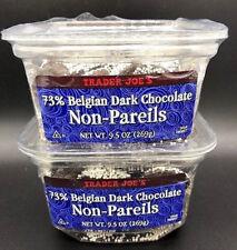 VALUE 2 PACK**Trader Joe's 73% Belgian Dark Chocolate Non-Pareils FREE SHIPPING