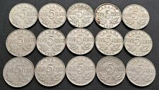 Lot of 15x 1928 Canada 5 Cent Coins - King George V Nickels