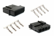 4 pin LP4 Black Molex connectors - 5 each male and female with pins