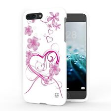 For iPhone 8 Plus,7 Plus Protector Slim Cover White Case 3D Hearts Flower