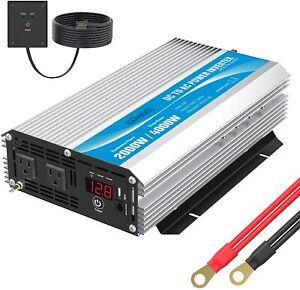 GIANDEL 2000W Power Inverter DC 12V to AC 240V with Wired Remote pm-2000kar