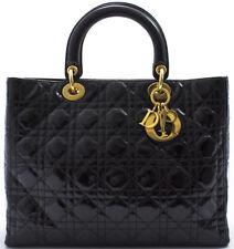 LADY DIOR GM CHRISTIAN DIOR Handbag Handtasche Tasche PATENT LACKLEDER SHINING