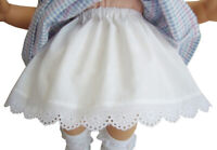 "15"" Doll Clothes Made in USA Poufy Slip W/ Eyelet Lace Handmade for Bitty Baby"