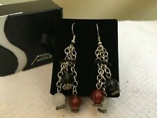 Pierced Earrings Personal Accents Red/Black/White