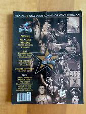 Vintage 2002 NBA ALL STAR GAME PROGRAM - PHILADELPHIA - Kobe Iverson Jordan