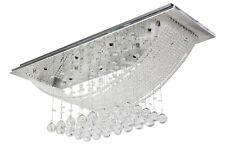 Bridge Wave Clear Crystal Lighting Ceiling Pendant Lamp Bedroom Living Room