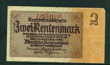 GERMANY - 1937 2 Rentenmark Circulated Banknote