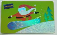 Blockbuster Gift Card - Santa Snowboarding / Christmas / Foil Design - No Value